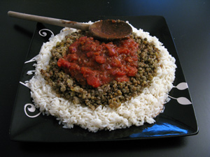 Riz lentille tomate