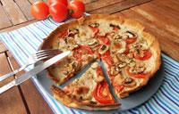 Tarte tomate mozarrella champignons