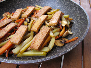 Tofu carottes pommes de terre