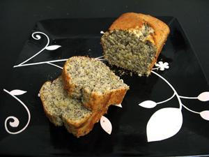 Gâteau citron et graines de pavot