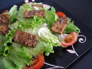 Salade tofu grillé