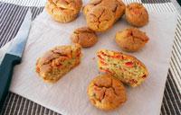 Muffin poivrons grillés végétalien