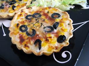 Tarte tomate maïs olives