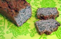 Cake végétalien épinards graines