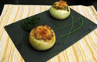 Oignons farcis champignons fines herbes