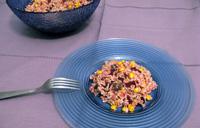 Salade riz betterave maïs