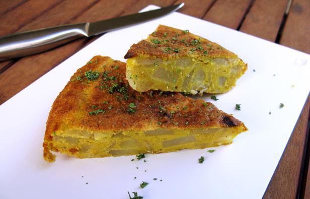Tortilla vegan omelette sans oeufs
