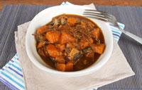 Courge champignons sauce