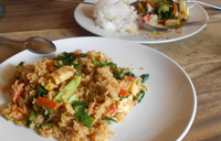 Riz légumes et tofu en Thaïlande