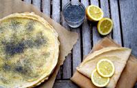 Crêpes lemon curd sans oeufs et sans lait