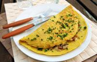 Omelette sans oeufs végétalienne