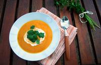 Velouté de courge et carotte curry coco