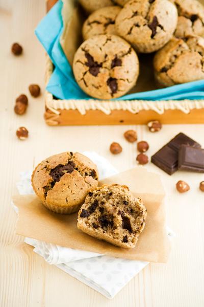 Muffin vegan chocolat et noisettes