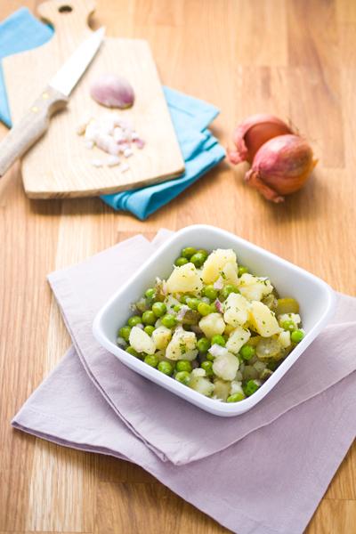Salade de pommes de terre et petits pois
