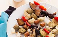 Brochettes pour barbecue vegan