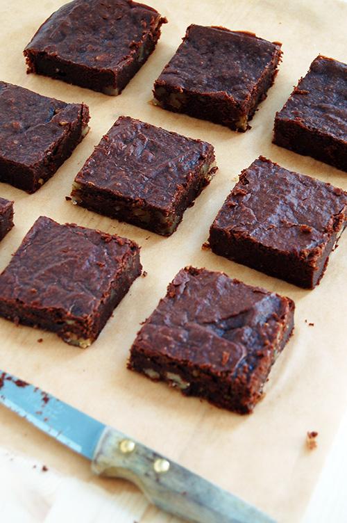Brownie chocolat et noix vegan