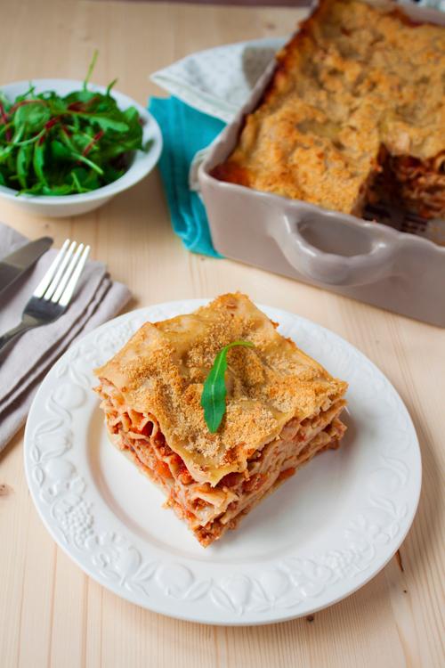 Lasagnes vegan à la bolognais